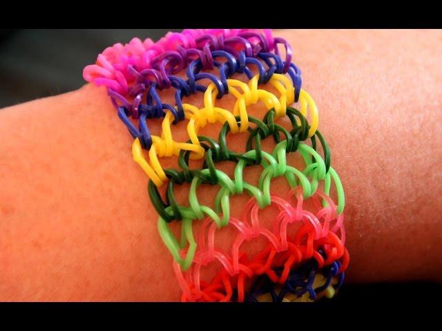 Схема плетения браслетов из резинок чешуя дракона