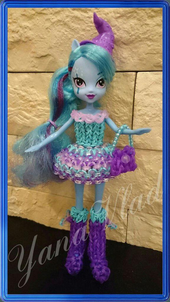 Плетение из резиночек платье для кукол