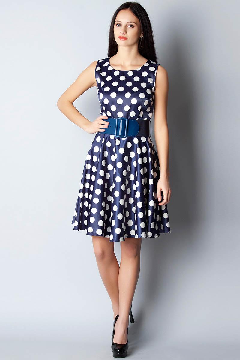 Бело Синее Платье