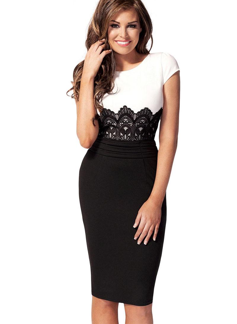 Платье наполовину черное