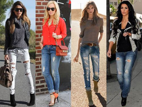рвані джинси фото
