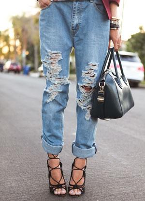 Рваный джинс своими руками фото