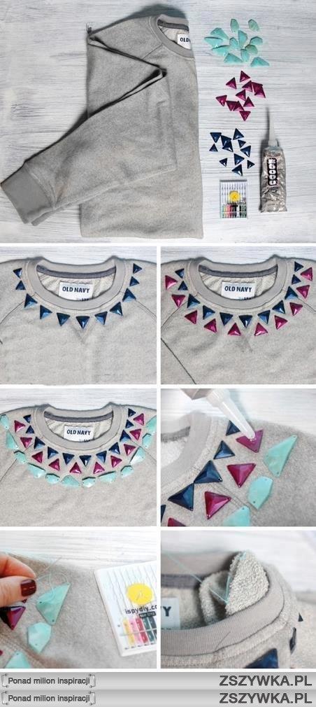 Украсить футболку вышивкой