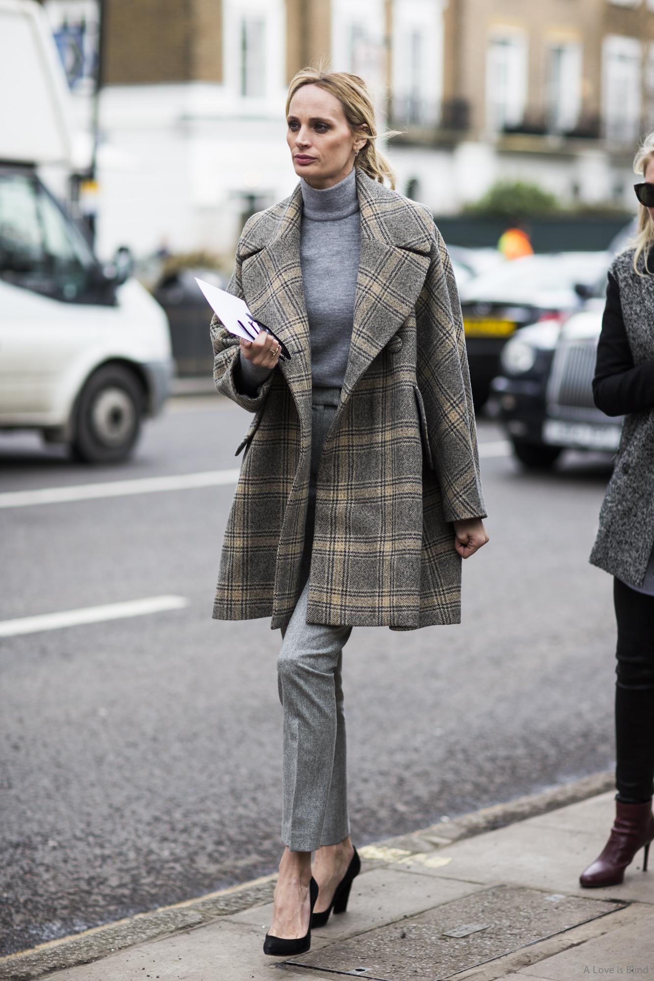 пальто в клетку фото 2016