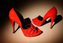 Красные туфли. С чем их носить?