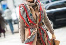Пальто с шарфом: какие цвета сочетать?