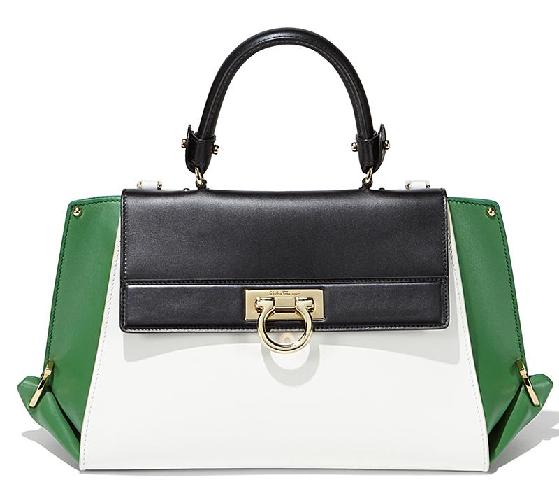 b6ef93559202 Модная женская сумка, модель саквояж - Salvatore Ferragamo
