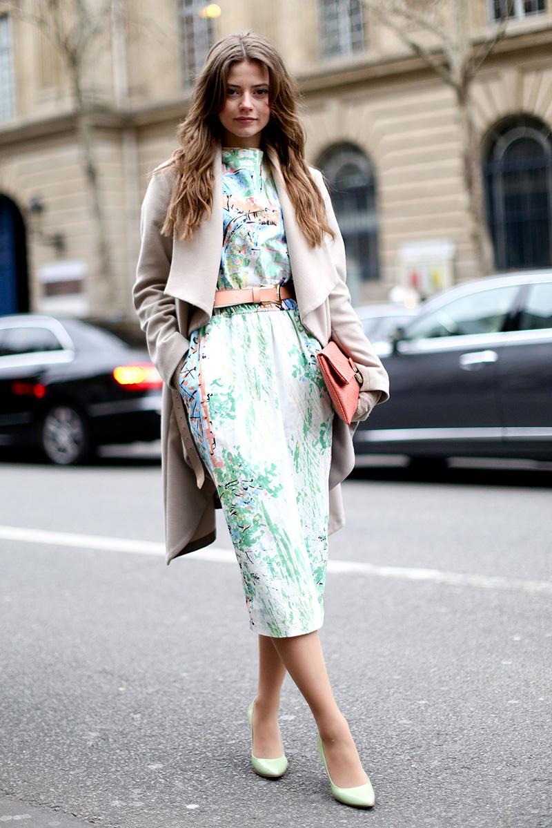 Платье пальто туфли