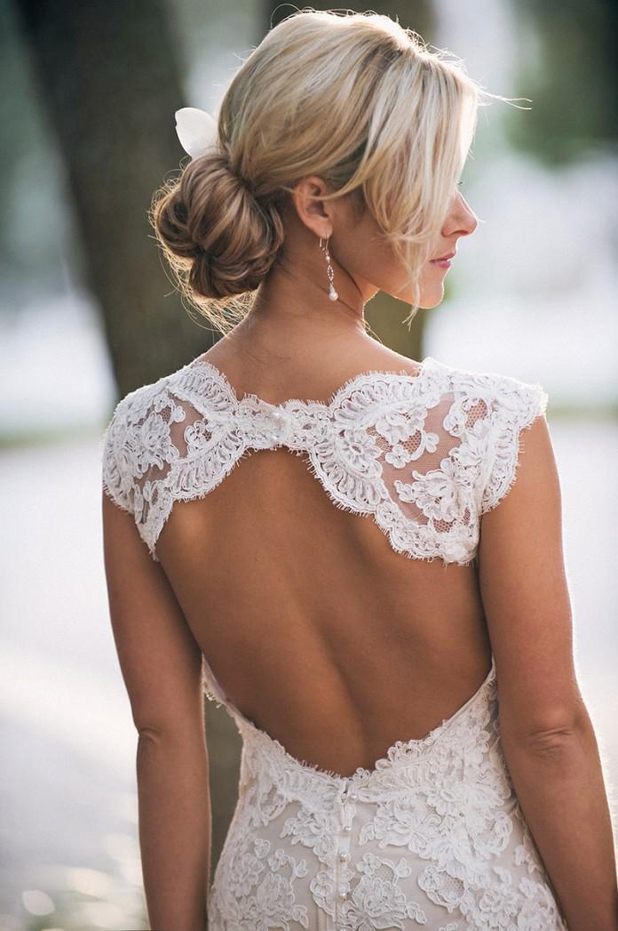 Платья с открытой спиной - фото, с чем носить