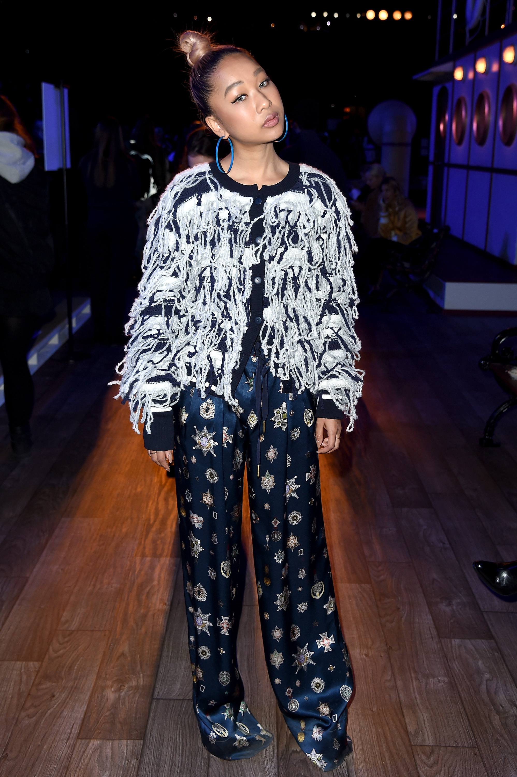 NEW YORK, NY - FEBRUARY 15: Singer Thelma Aoyama attends the Tommy Hilfiger Women's Fall 2016 show durong New York Fashion Week: The Shows at Park Avenue Armory on February 15, 2016 in New York City. (Photo by Nicholas Hunt/Getty Images for Tommy Hilfiger)