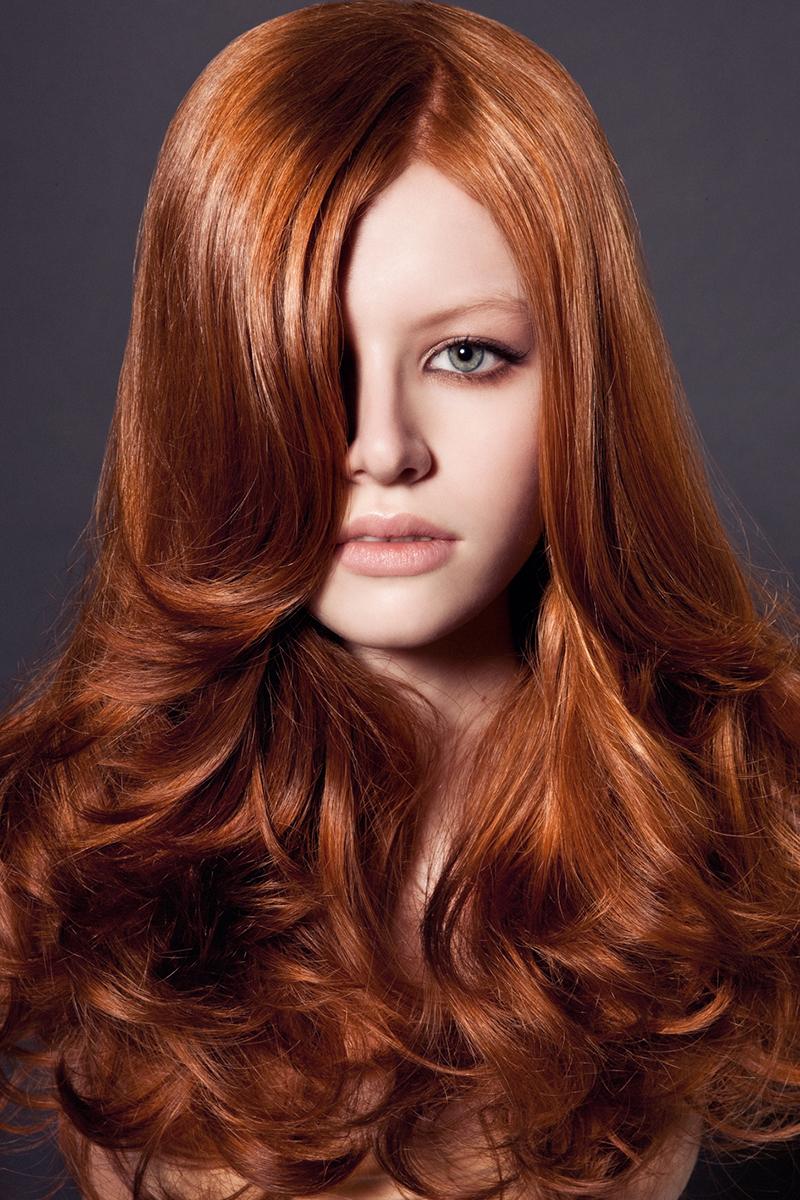Коричнево-рыжий цвет волос фото