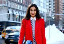 Красное пальто - 25 вариантов, как украсить серые будни