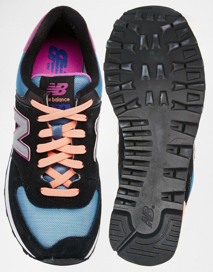 acf56c11a8a5 Разноцветные кроссовки New Balance 574