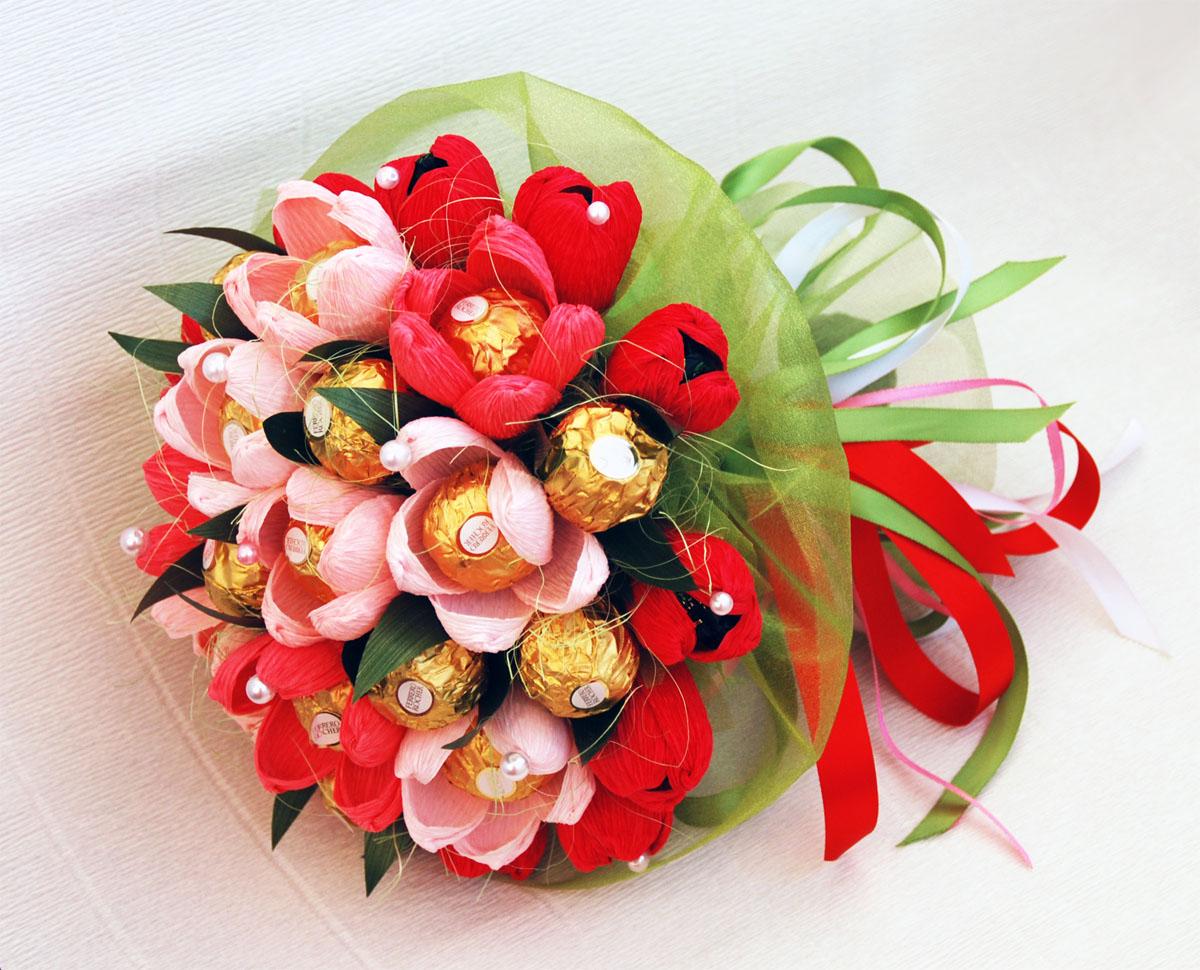 Цветы и конфеты картинки