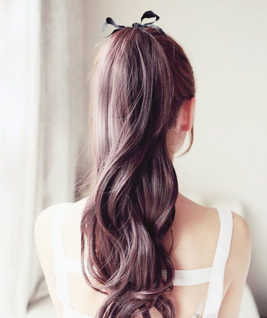 Прически с хвостом на длинные волосы