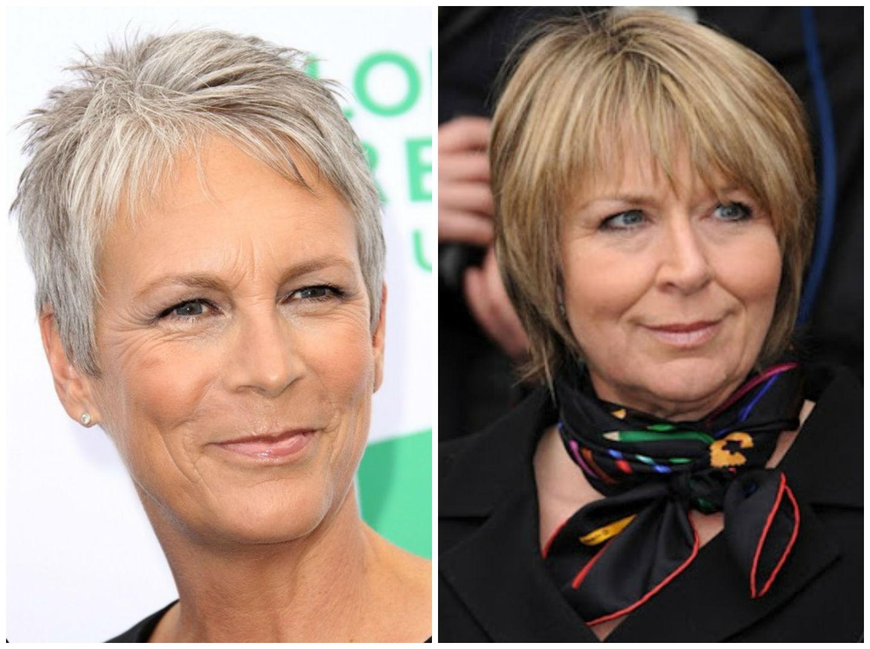 Стрижки на средние волосы для женщин после 50 лет фото
