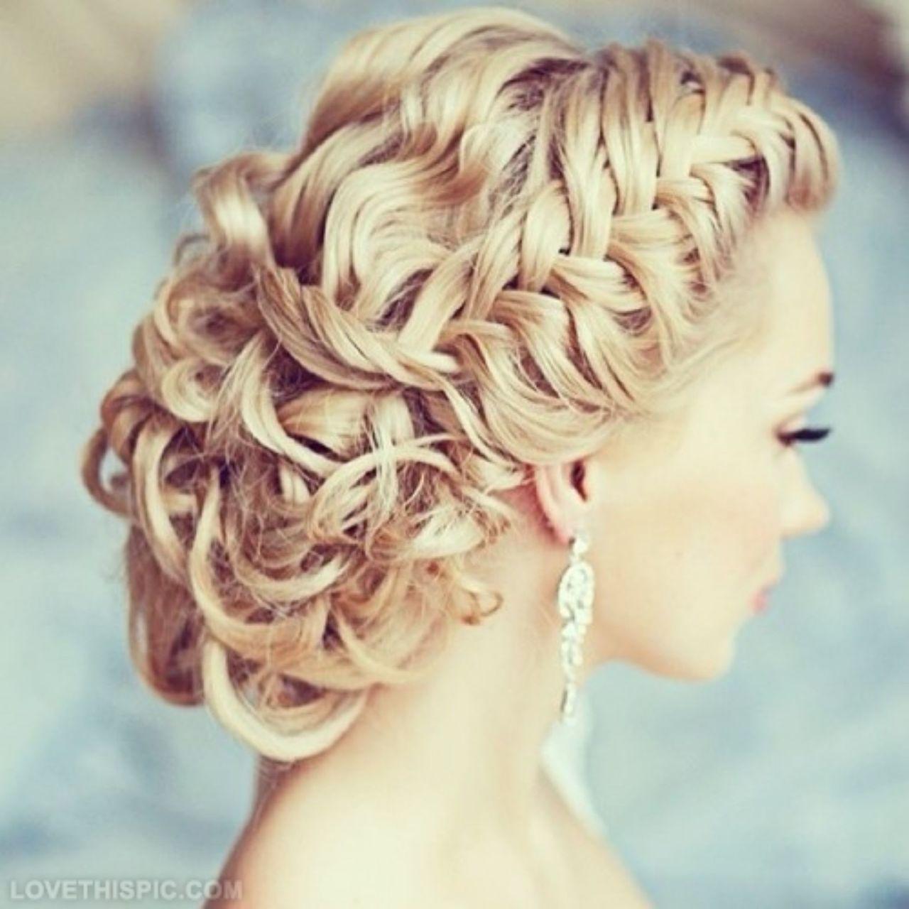 Праздничные прически на длинные волосы - плетеная коса