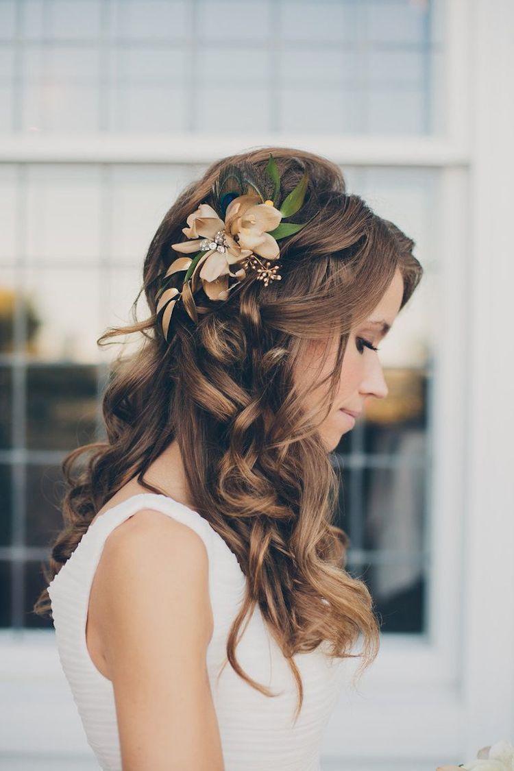 Праздничные прически на длинные волосы с цветами