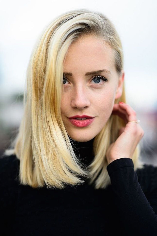 стрижка на средние волосы каре на прямых волосах