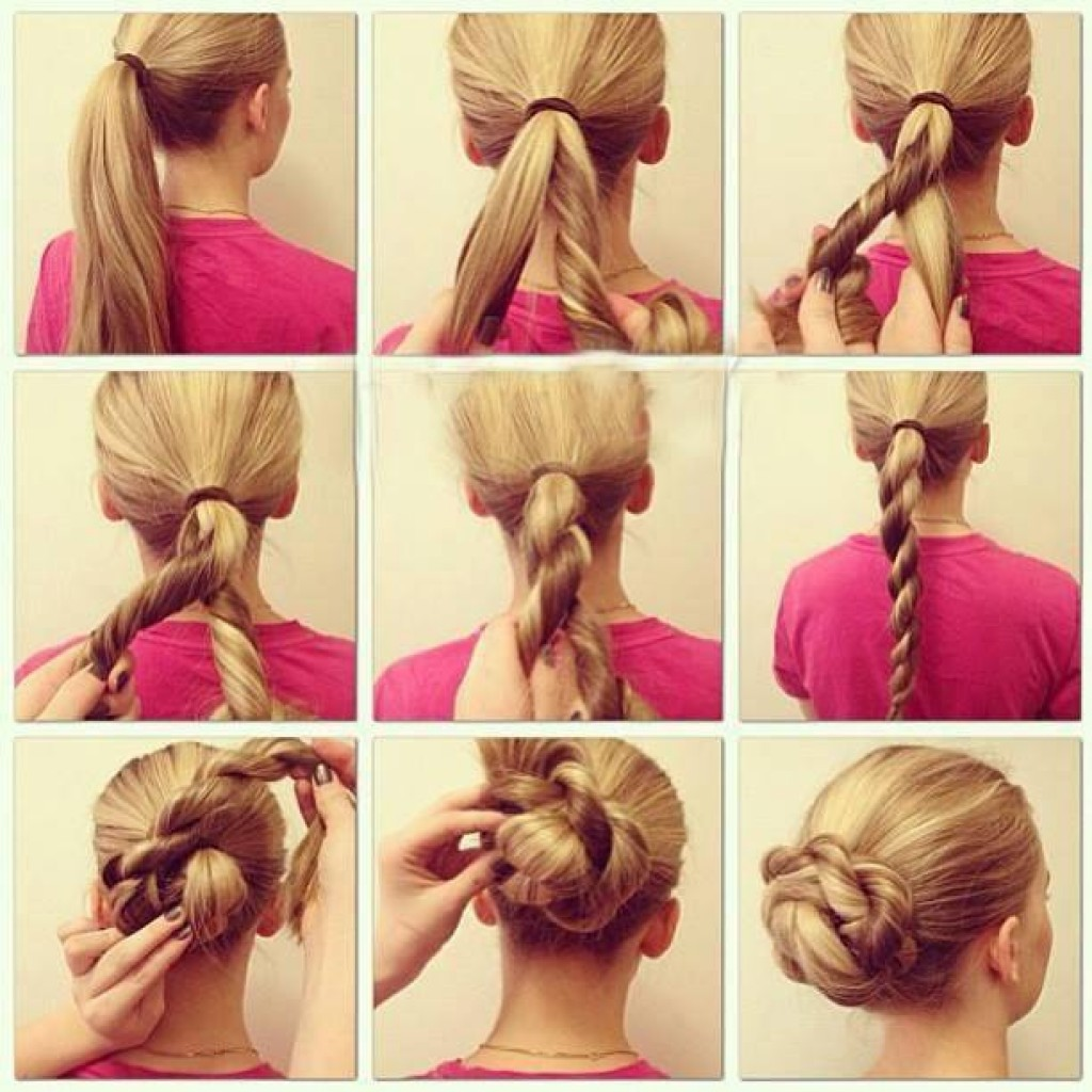 Прически 2016 фото на средние волосы своими руками
