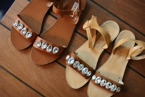Как самые обычные сандалии сделать дизайнерскими