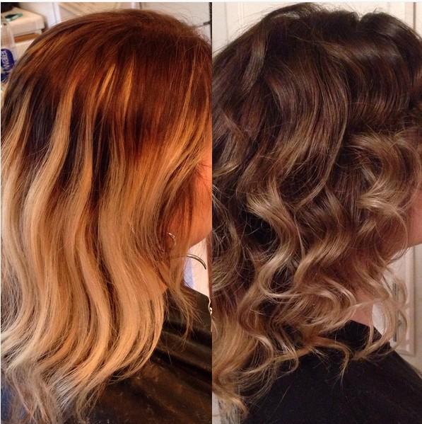 Прическа на волосы средней длины - лёгкие волны и упругие локоны