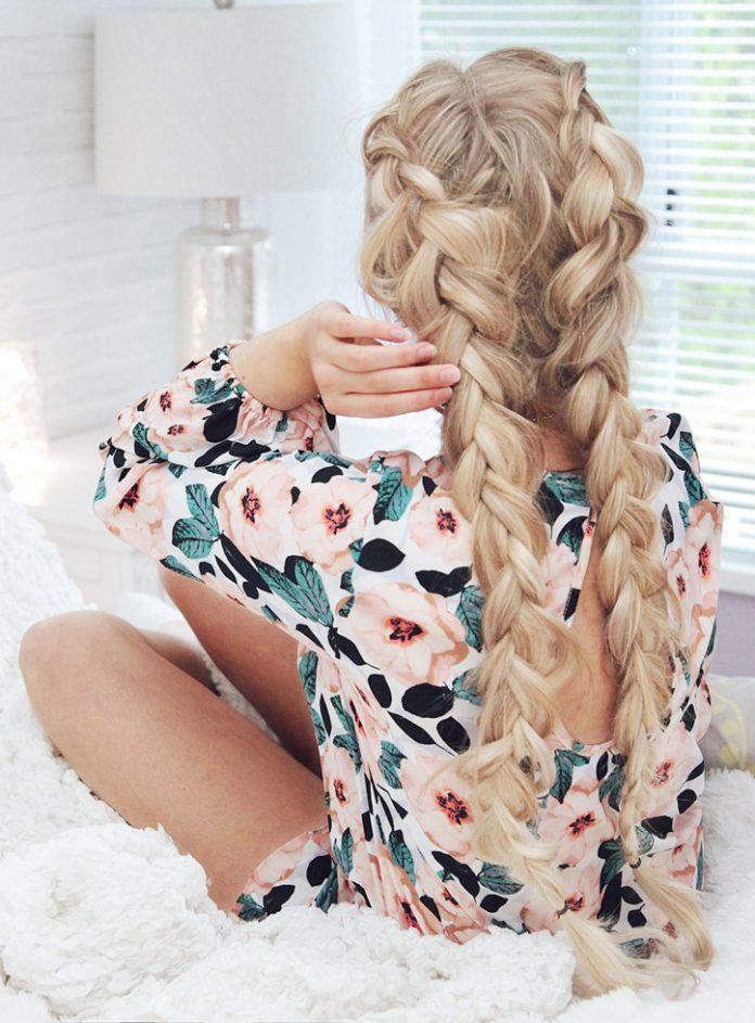 Французская коса наоборот – легкая прическа на каждый день