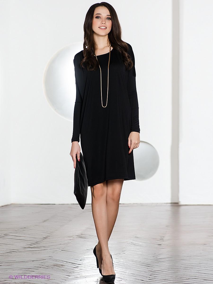 Классический фасон платья - черное платье футляр
