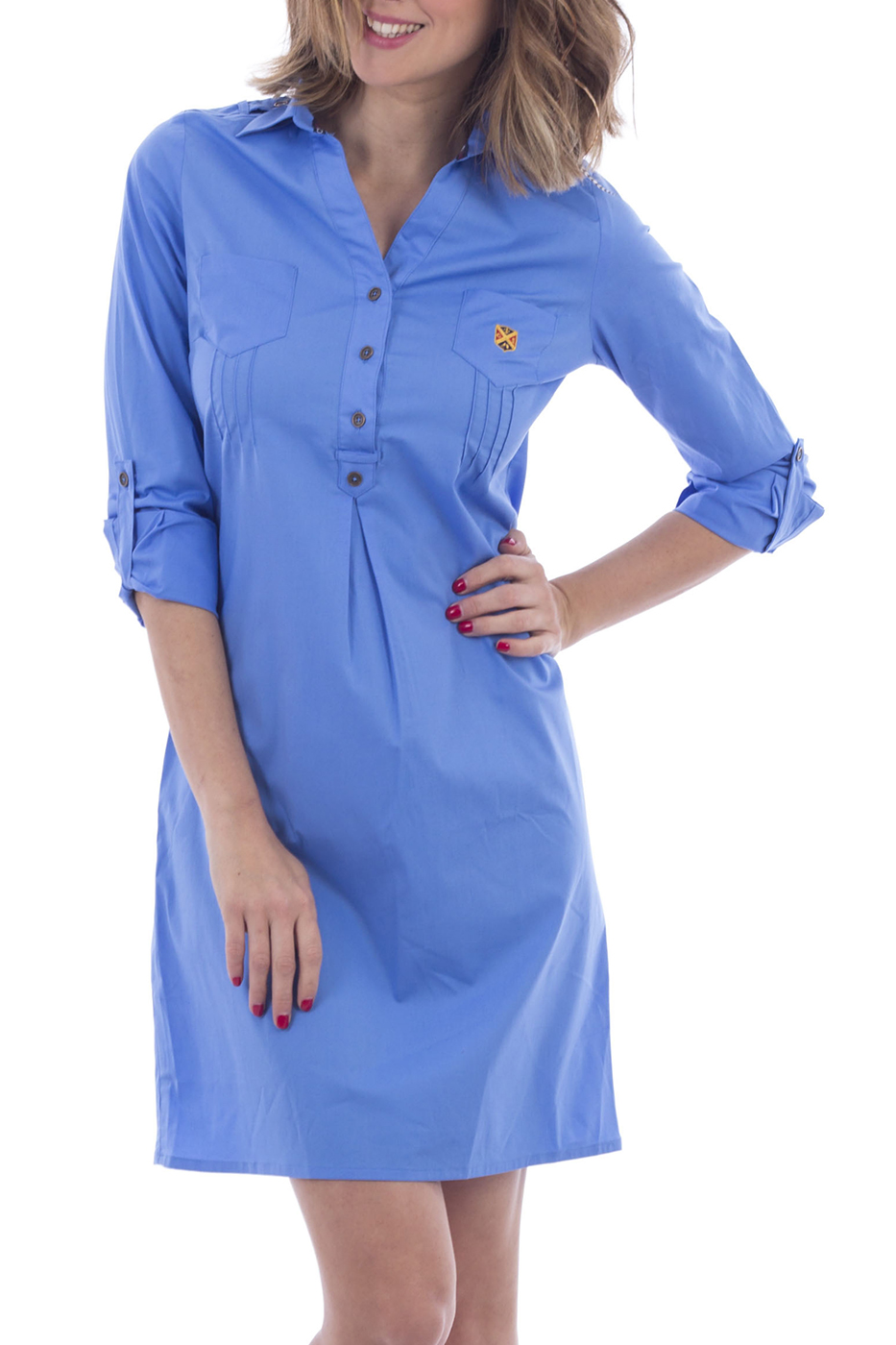 Фасон платья поло, голубое платье. Модель платье поло 2020