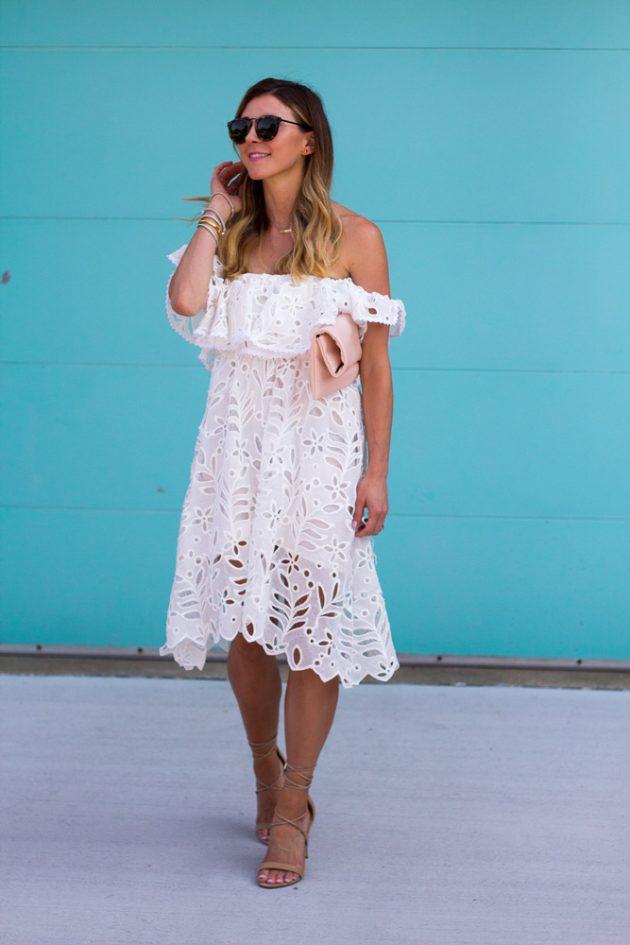 Белое кружевное платье: 19 нежных моделей платьев