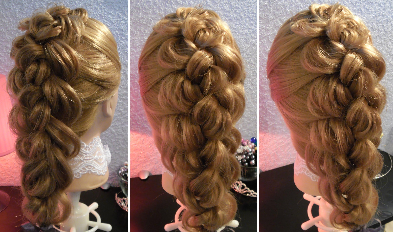 модное плетение косы со средними волосами - четырёхжгутовое плетение.