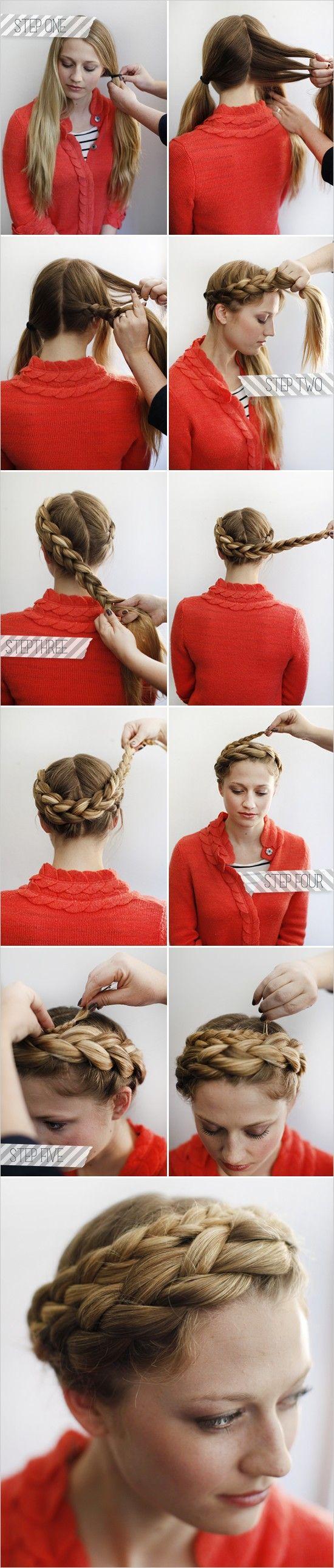 пошаговый мастер-класс плетения причёски с косой.