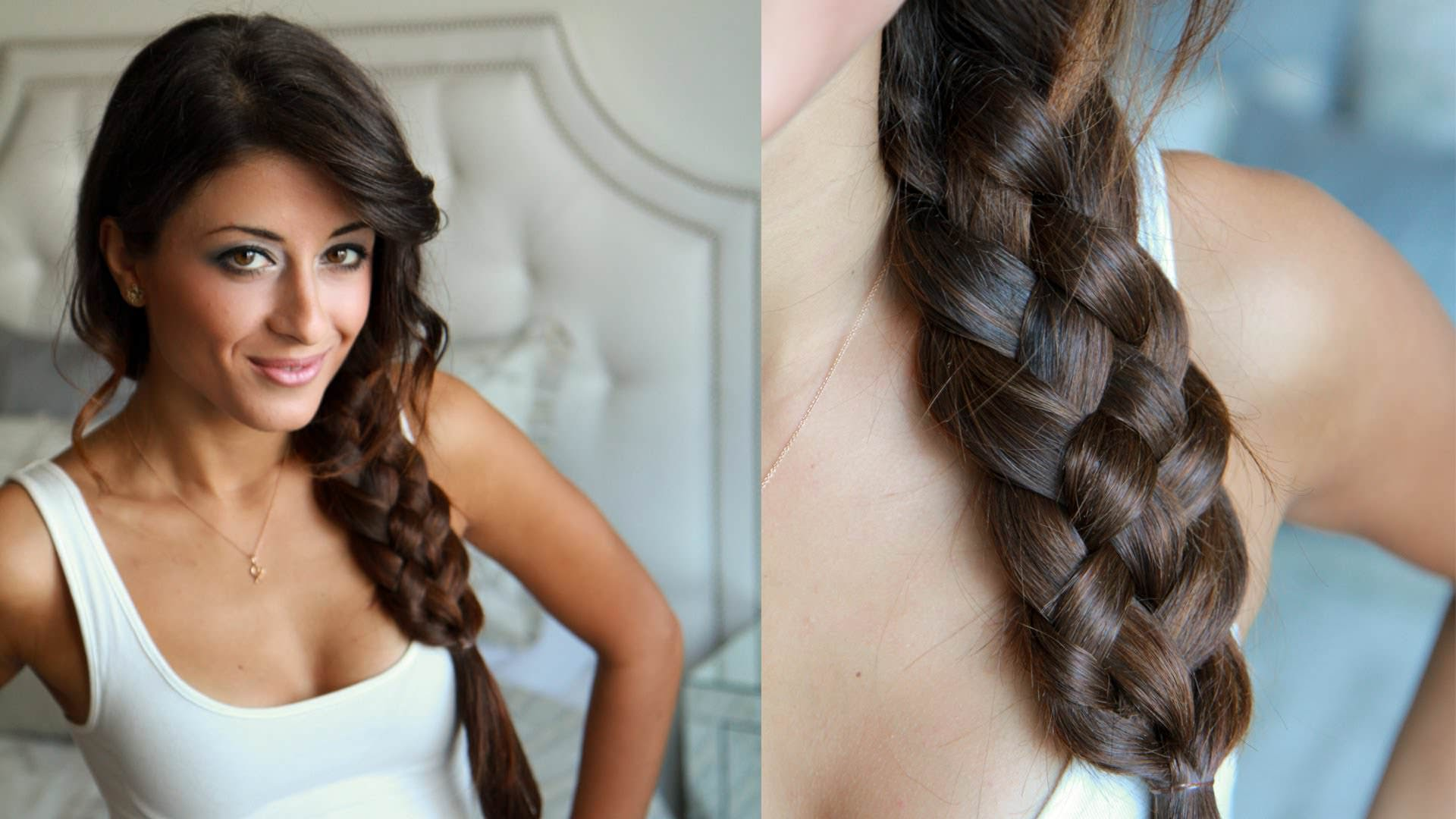 Вариант 4: коса сбоку.