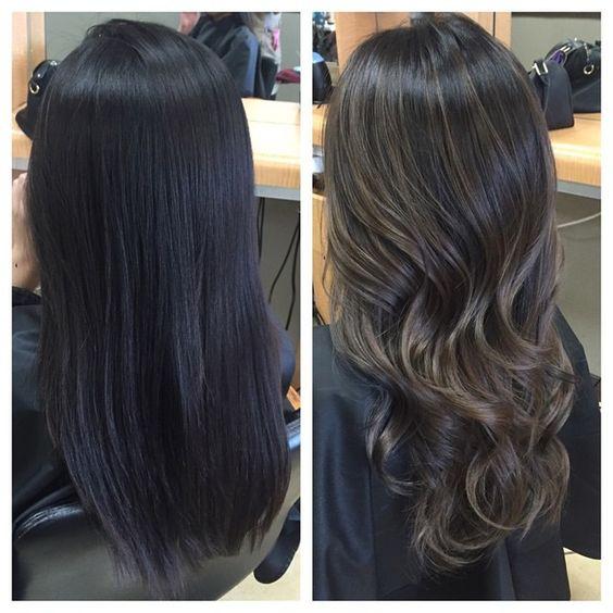 стрижки каскад на вьющихся и прямых волосах -вид сзади