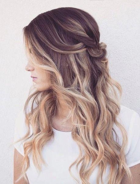 Прическа с длинными волосами - мальвинка и завитые волосы