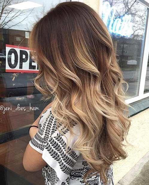 Прическа с длинными волосами с кудрями