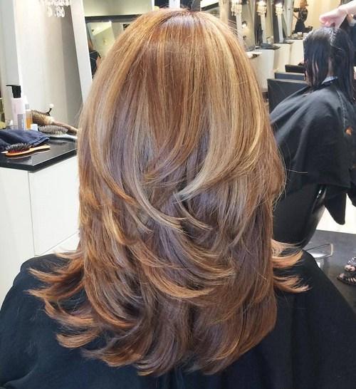 градуированная стрижка каскад на длинные волосы 2020 женские - каскад