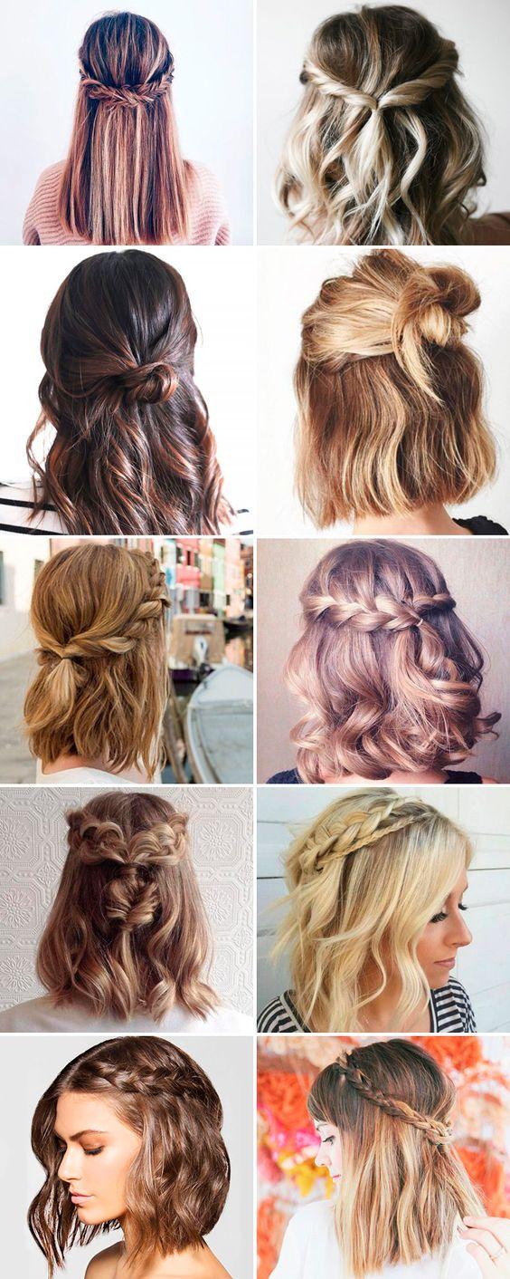 Варианты укладки коротких волос