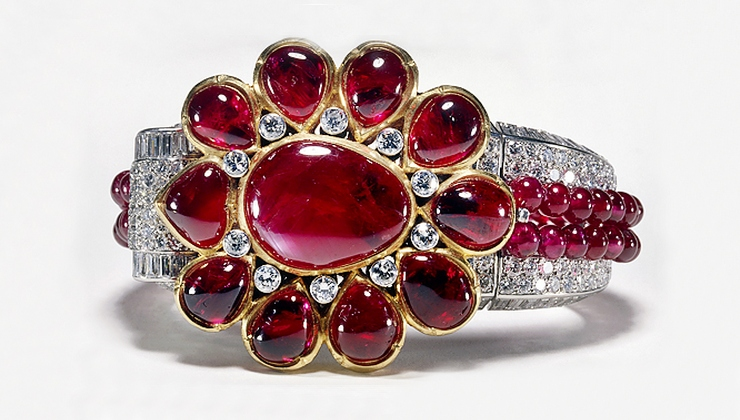Браслет украшение с рубином