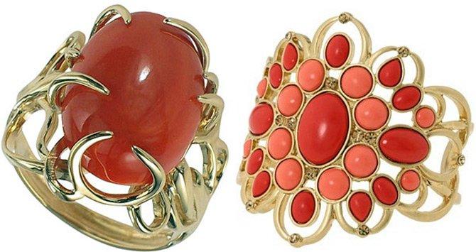 Красный коралл - украшение с кораллом