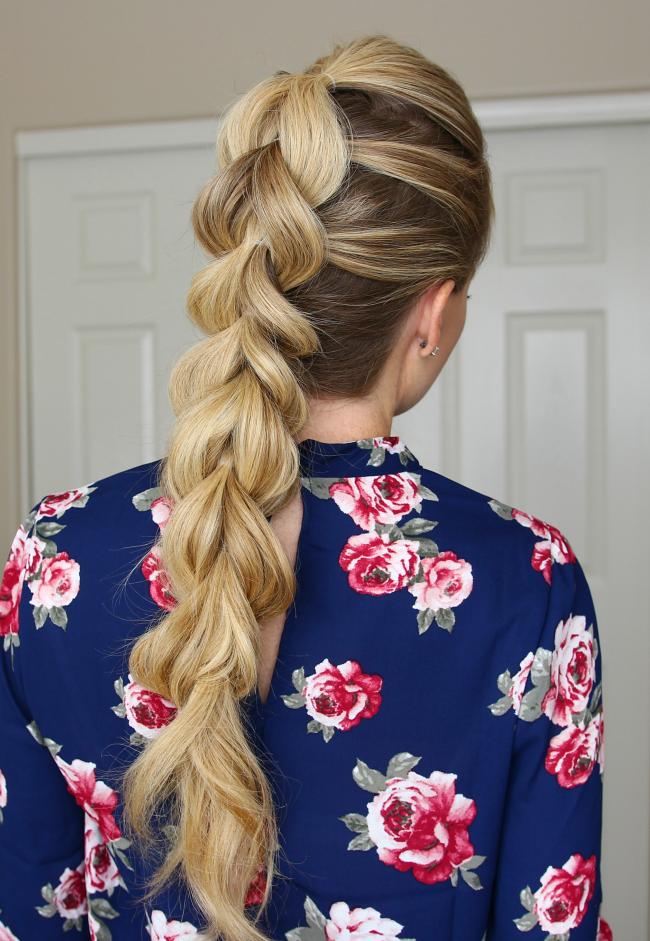Причёска - объемная пышная коса