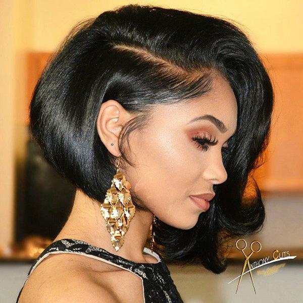 короткая стрижка с роскошными волосами