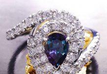 Старинное кольцо с александритом - фото