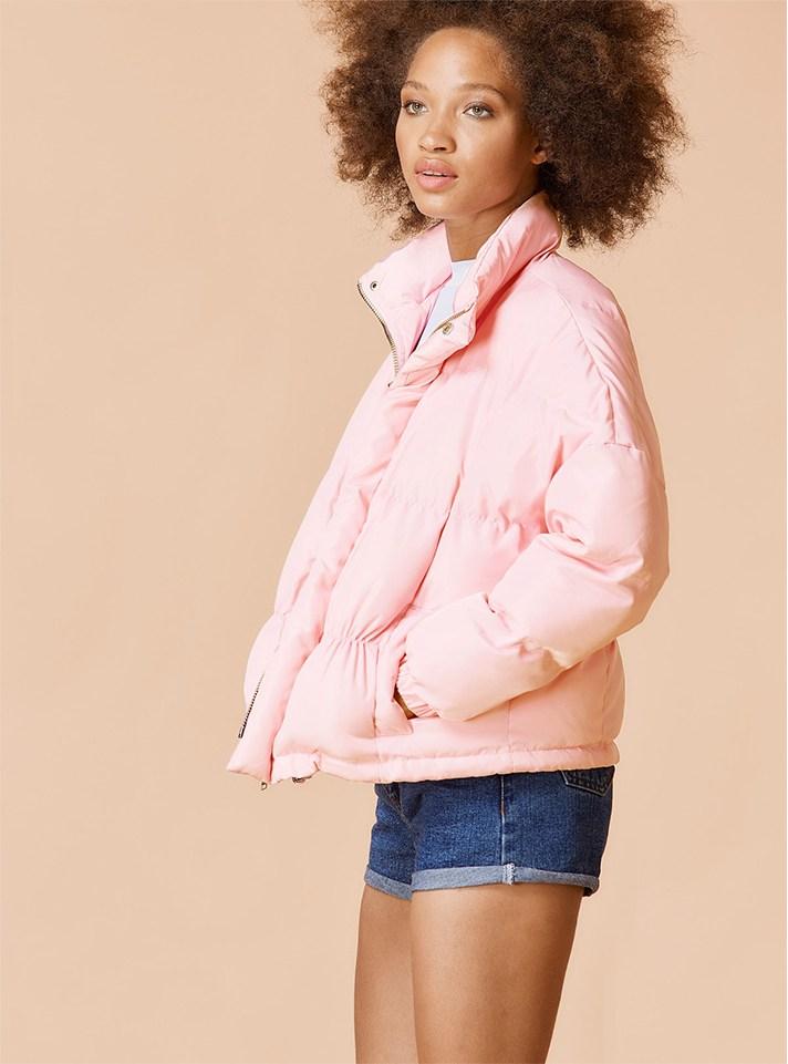 76bd20f0ec8 Модная короткая куртка 2017 розового цвета.