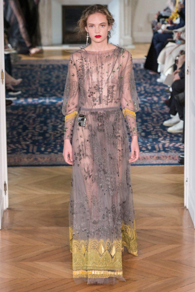 06fdb87d1da Платье длинное в пол серо-розового оттенка из полупрозрачной ткани с  принтом - фото новой