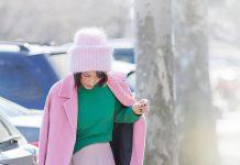 Розовое пальто, тренд сезона / 26 модных моделей