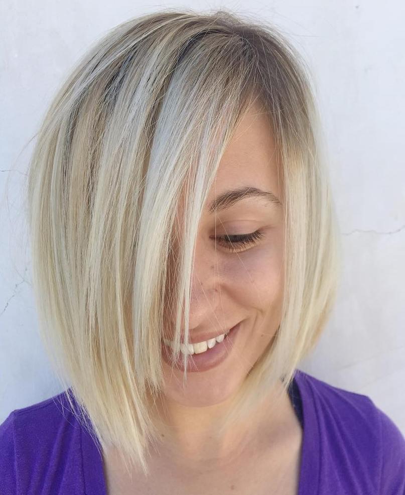 ассиметричная стрижка каре для тонких волос