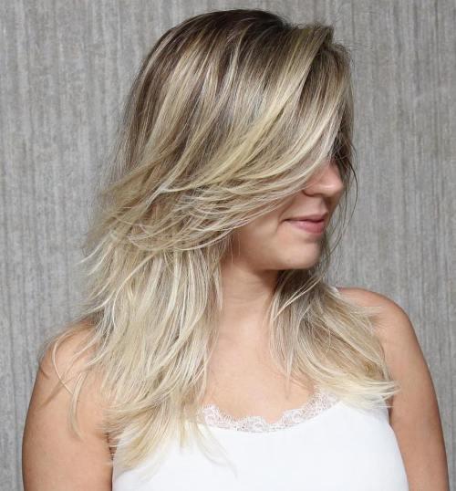 градуированная стрижка каскад для тонких волос