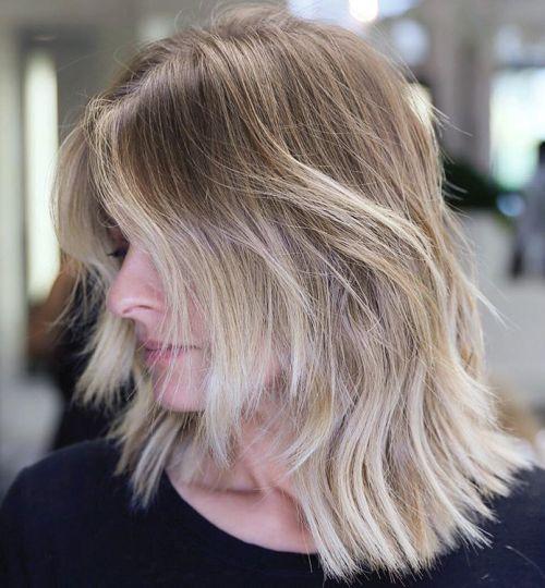 ассиметричная градуированная стрижка каре для тонких волос