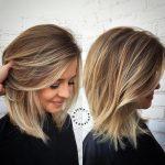 стрижка градуированный объемный каскад на средние волосы
